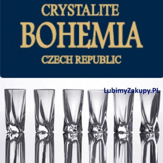 Kieliszki Kryształowe Bohemia Quadro 50 Ml Do Wódki Likieru Kpl 6 Szt