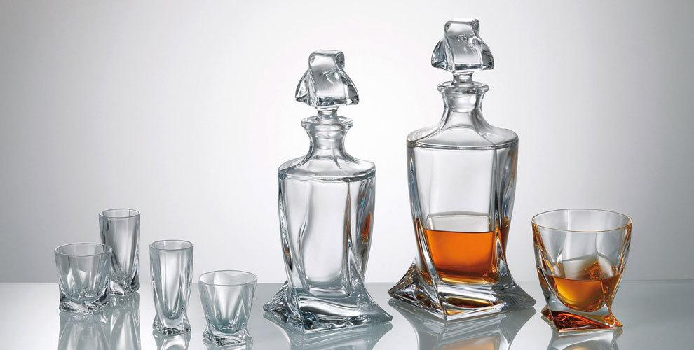 Bohemia Quadro szklanki do whisky 340 ml